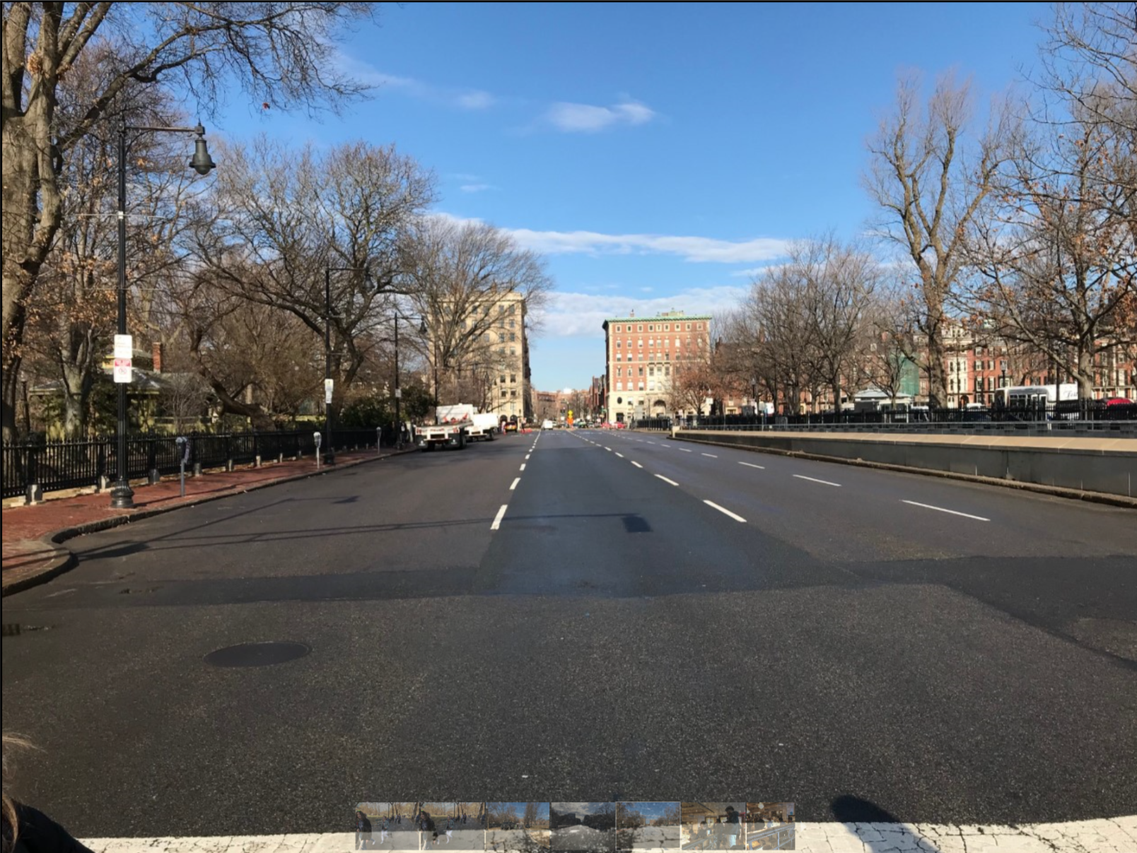 The police used their rich experience with all-sports championship celebrations to close off key streets. This one, Charles Street, between the Common and the Public Garden, was key.