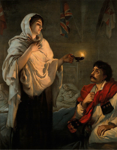 """In the BBC Radio 4  comedy  series Old Harry's Game, Florence Nightingale is mentioned as being one of the condemned souls in Hell:  In Episode One of the two-part 2002 Christmas Special, """"The Roll of the Dice"""", Queen Victoria tells mistakenly-damned Hope Frasier that Florence Nightingale was in Hell because of opium. When Hope states her shock that Nightingale was an addict, Queen Victoria corrects her: """"No, not an addict, dear; she was a dealer. The nursing provided a perfect front while she and her gangs ran most of the dens in Limehouse, and if you crossed her she'd burn you with her lamp.""""  Of course, this is a joke that not everyone will find comical. But after a couple of drinks and in the midst of ribald conversation, it gets funnier."""