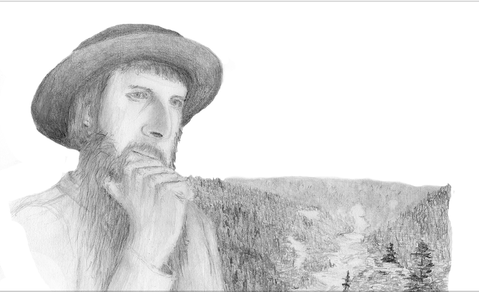 Pencil sketch of Jakob Ammann with a background of the valley where he lived near Markirch (now Ste. Marie aux Mines), Elsass/Alsace. His house would have been in the valley just below the trees in the foreground. This work is based on historical research, but is obviously not a direct sketch of Ammann. No known images of him exist. I created this work and release it to the public domain.  Jacob Ammann (12 February 1644 – between 1712 and 1730) was an Anabaptist leader and namesake of the Amish religious movement.