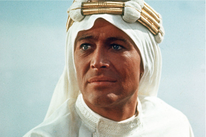 Peter O'Toole in Lawrence of Arabia (1962), directed by David Lean. Courtesy of Columbia Pictures Corporation Later revealed that blacklisted Michael Wilson co-wrote the screenplay.