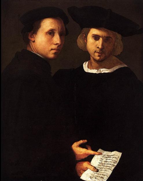 Portrait of Two Friends by Italian artist Pontormo, c. 1522