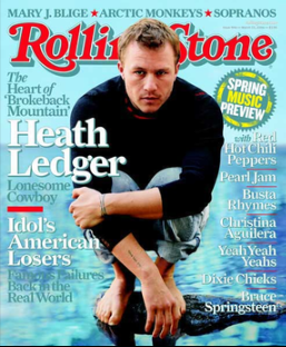 Ledger on the March 2006 cover of   Rolling Stone
