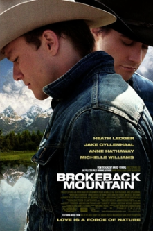 Heath Ledger Brokeback Mountain Theatrical release poster