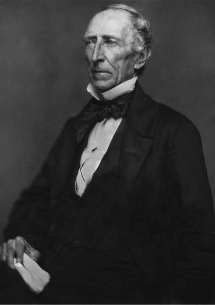 Restored daguerreotype of John Tyler, tenth president of the United States. Library of Congress collection.