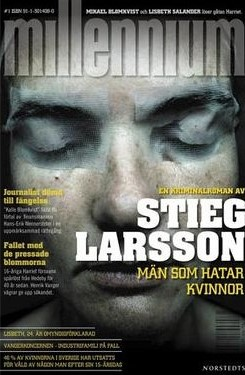 This is the front cover art for the book The Girl with the Dragon Tattoo written by Stieg Larsson.  The book cover art copyright is believed to belong to the publisher, Norstedts Förlag (Swedish), or the cover artist, Peter Mendelsund.