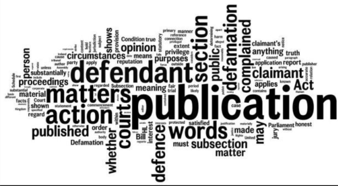 Libel is a published false statement that is damaging to a person's reputation; a written defamation.  Compare with    slander   .