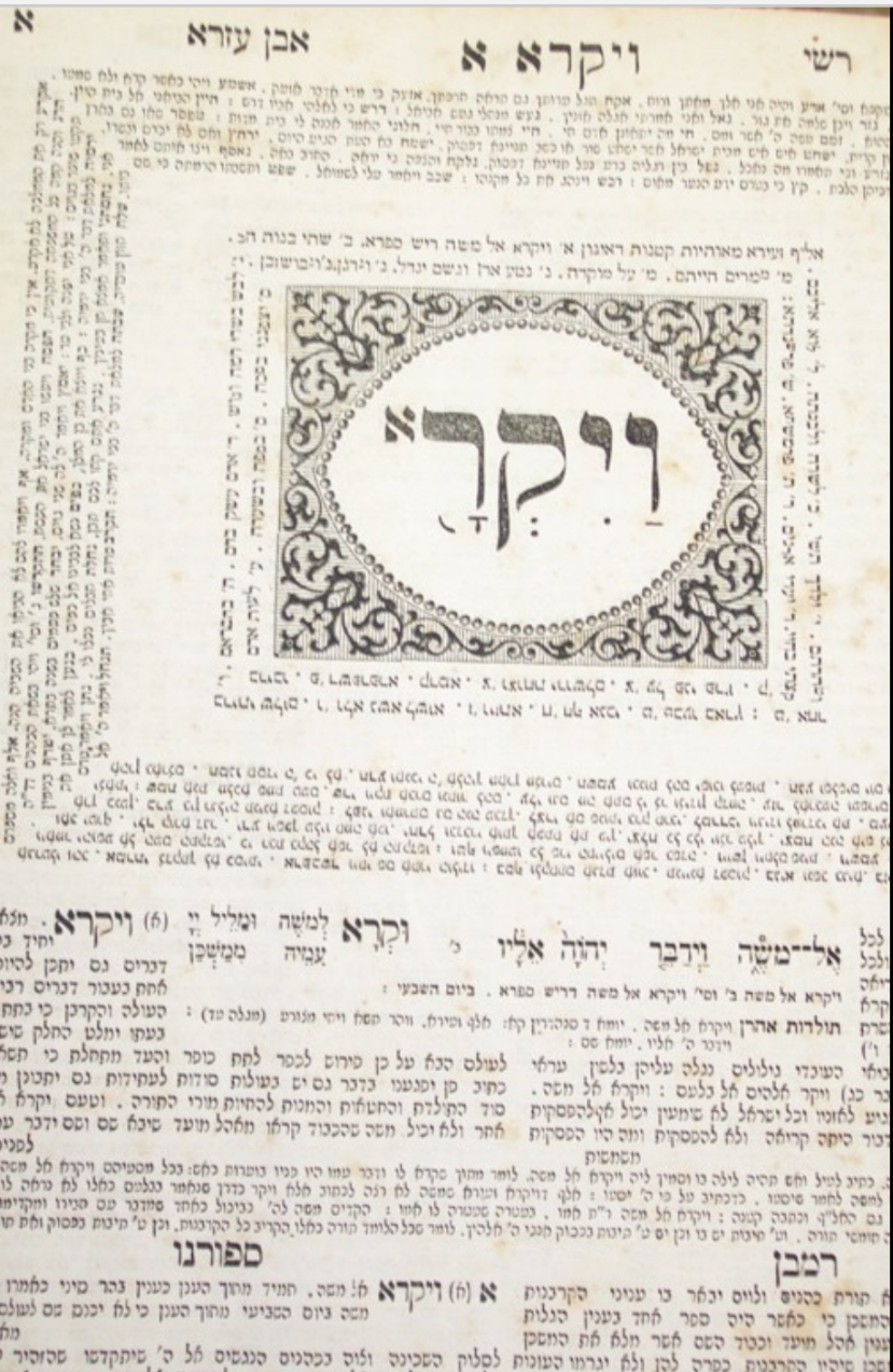 Vaikro – Book of Leviticus, Warsaw edition, 1860, page 1  Antisemitism is the driving force behind the serial killings.