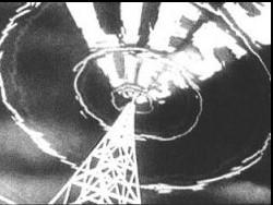 Prelude to War, Capra's first movie in the series, depicts the Nazi propaganda machine.