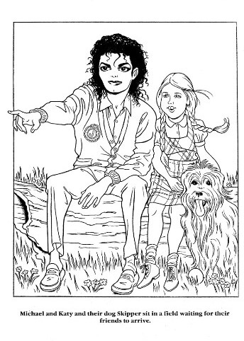 A Michael Jackson coloring book.