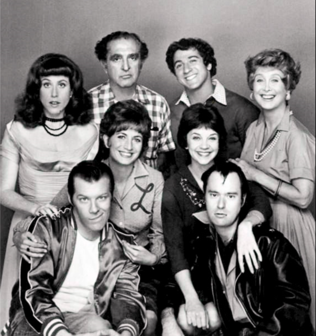 McKean's first big role was playing annoying neighbor Lenny Kosnowski on the sitcom Laverne & Shirley.  Bottom left is Michael.