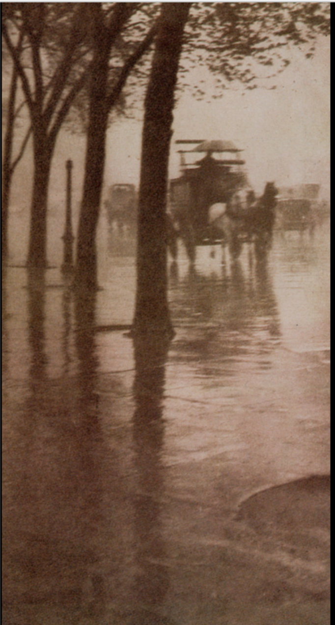 Spring Showers, The Coach  (1902) by Stieglitz  - Camera Notes, Vol 5 No 3 1902