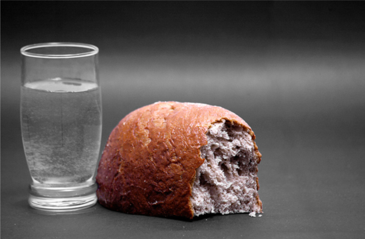 Some people don't have this much. Clean water. Bread. Cause for celebration.