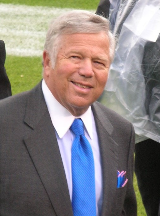 New England Patriots owner Robert Kraft on the field prior to an away game against the Oakland Raiders.  The Patriots won 49-26.