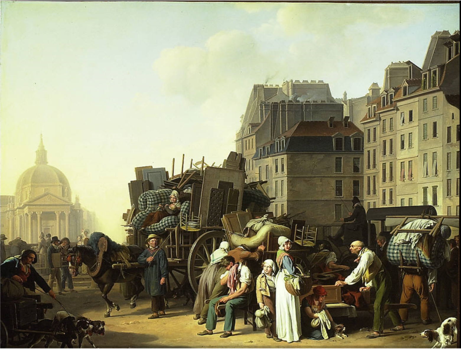 Painting of a family moving in the 19th Century  Louis-Léopold Boilly - 1. Art Institute of Chicago 2. The AMICA Library
