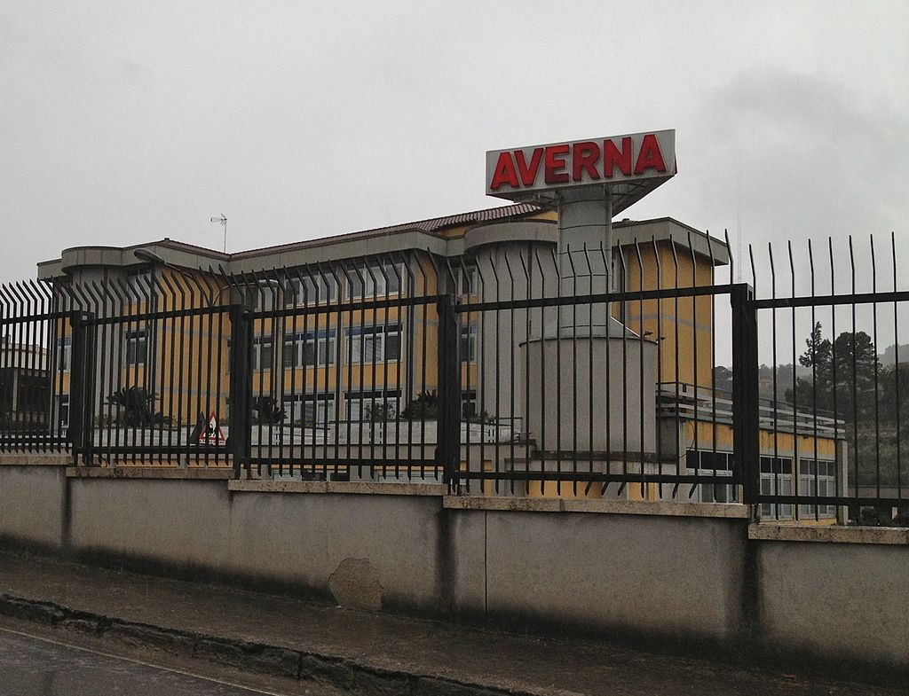Fratelli Averna factory buildings in Caltanissetta Sicily.