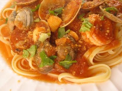 Marinara Sauce with Seafood