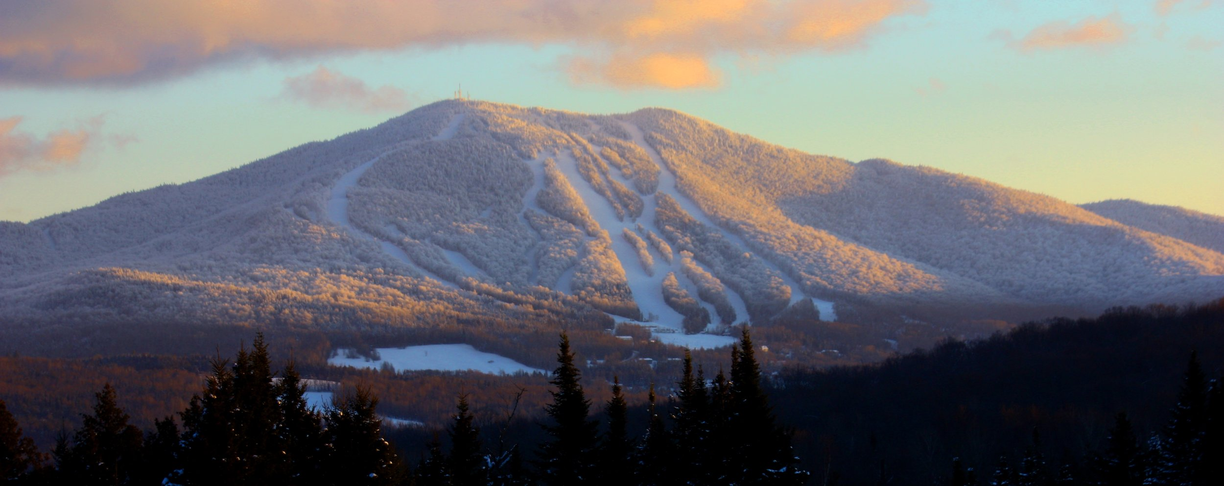"Burke Mountain is a mountain located in the ""Northeast Kingdom"" of Vermont. The bulk of the mountain is in Caledonia County, but its southeast side is in Essex County. It is flanked to the east by Umpire Mountain.  Burke Mountain, Vermont Patrick McCaffrey - Patrick McCaffrey"