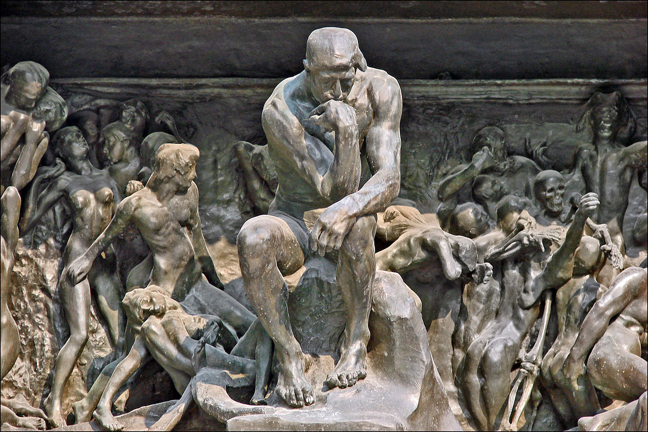The Thinker in The Gates of Hell at the Musée Rodin Jean-Pierre Dalbéra from Paris, France -  Le penseur de la Porte de l'Enfer (musée Rodin)