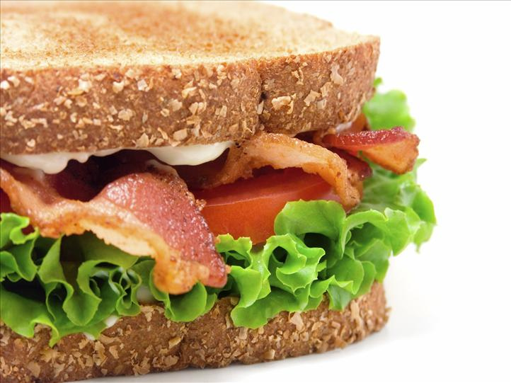 A bacon, lettuce and tomato sandwich on toasted bread.  Steven Groves  from Denver, CO, United States of America -  Sammie