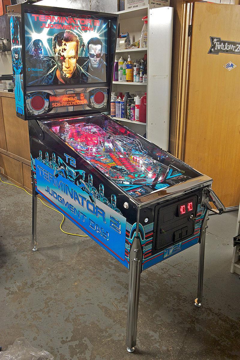 Terminator 2: Judgment Day pinball machine Wayne Patrick Finn - Own work