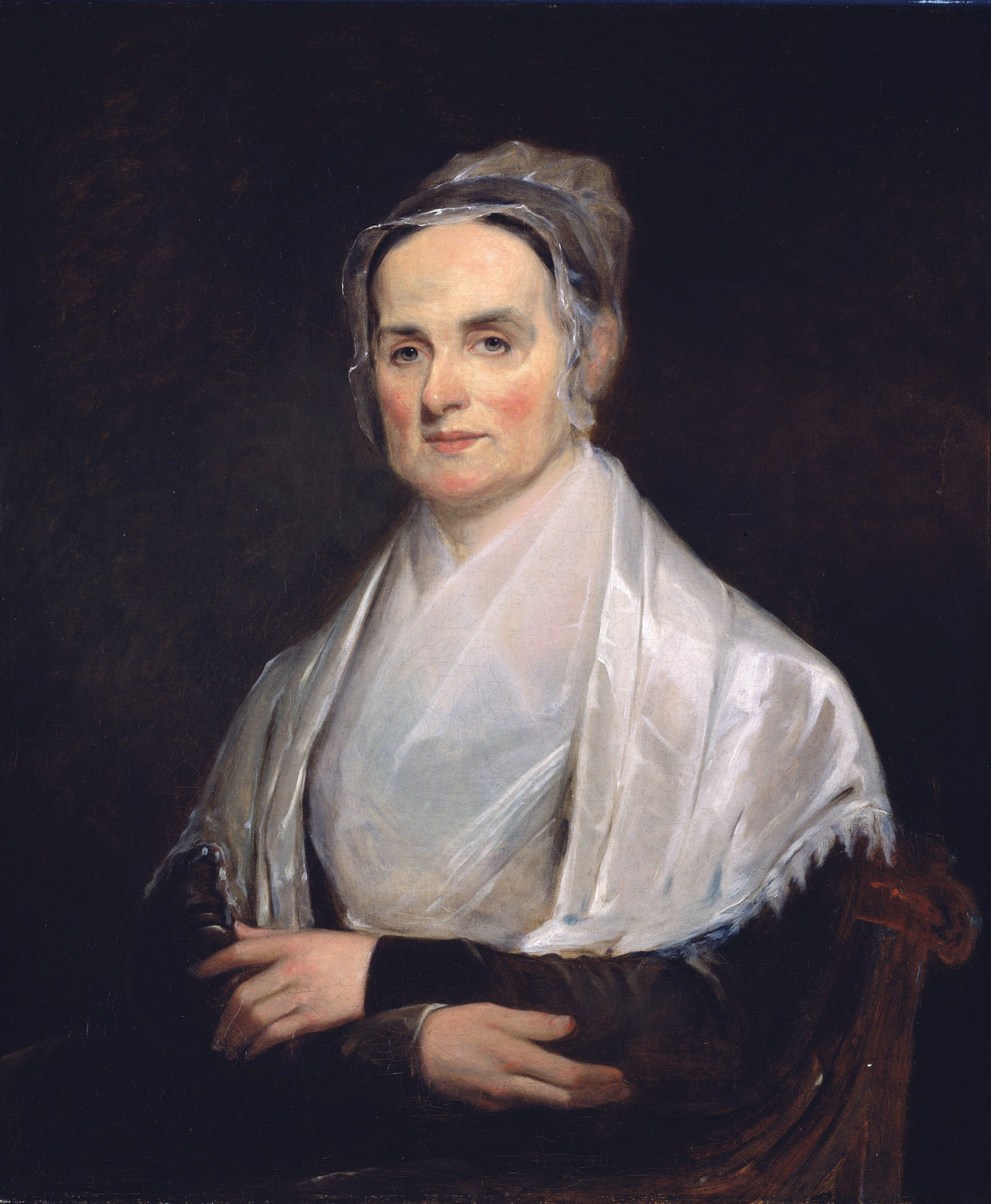 """Lucretia Mott at the age of 49 (1842), at the  National Portrait Gallery  in  Washington, D.C.   Revolutionary Quaker Lucretia Mott changed the world through her work as a leading abolitionist, founder of the American women's rights movement, and social reformer.   As one of Swarthmore's founders, she changed the College with her philanthropic and vocal support, ensuring that students would have access to an education """"equal to that of the best institutions of learning in our country."""" And it is still that."""