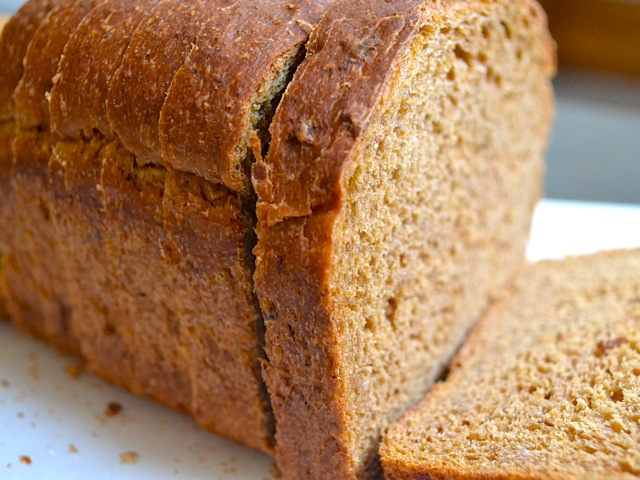 Web Meister Responds: I've sliced the loaf and frozen it.  How sweet to pull one out in the morning and toast it.  Spread butter and honey.  Yummy in your tummy.