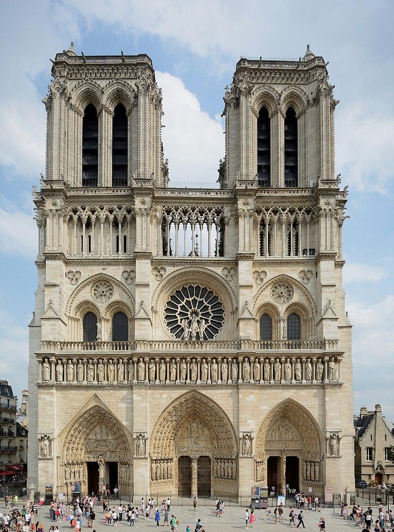 English: Cathedral Notre Dame de Paris, West view, Paris, France  Template:De (in French) Mérimée P e z i - Own work