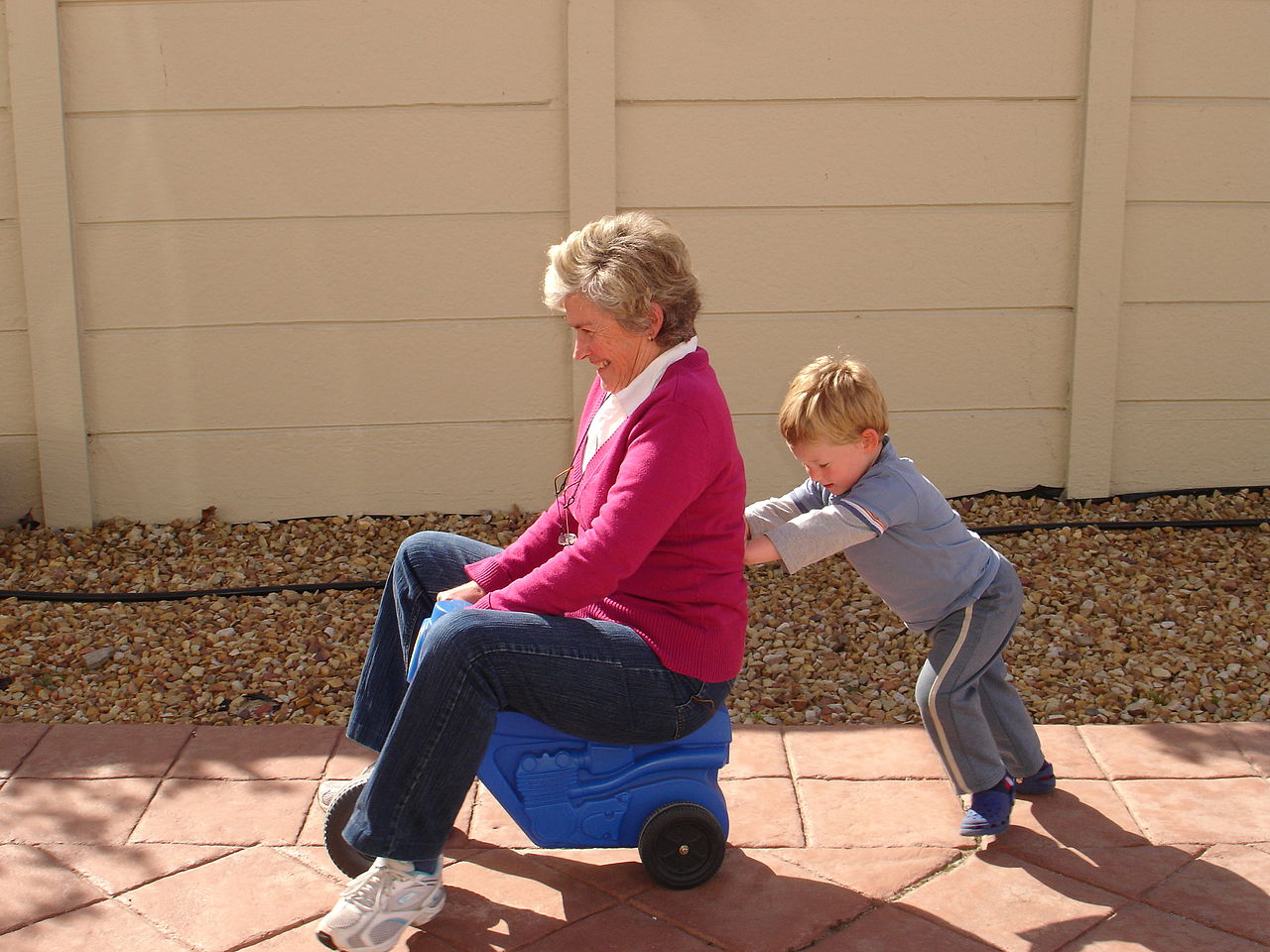 A grandmother playing with her grandson   Catherine Scott  -  Matti