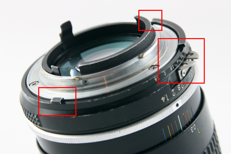 Another look at the AI mount showing the various cuts made into the lens mount as well as the continued presence of the coupling flange seen on earlier non-AI mounts.
