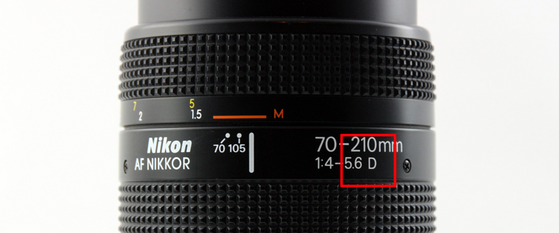 The D after the maximum apertures signifies the AF-D mount.
