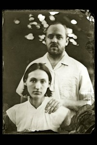 A wet plate portrait of Clarke and Christie made by Deborah Luster.