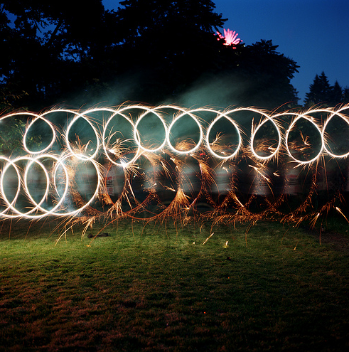 Sparkler Spin by Peter Carlson