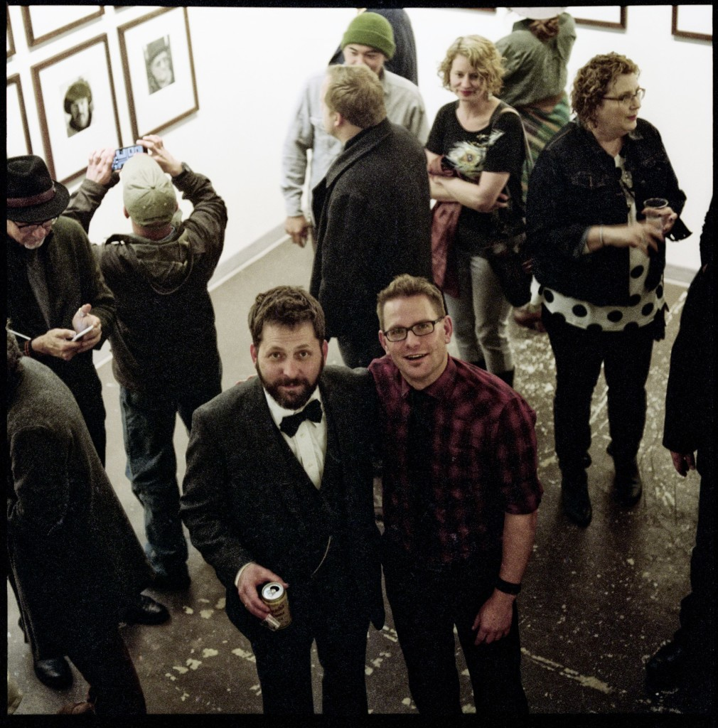 Jake and Blue at the opening of Jake's show Contact at Newspace, April 2015