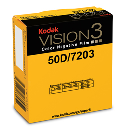KODAK VISION3 50D Color Negative Film 7203    ISO 50 (daylight) / 12 (tungsten, with 80A filter)    VISION3 50D is a low speed daylight-balanced film offering the world's finest grain to ensure a pristine, clean image that is full of color and detail.