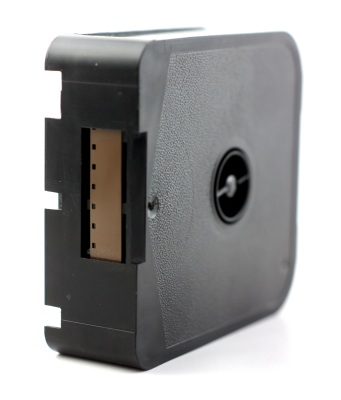 The business end of a Super 8 cartridge.