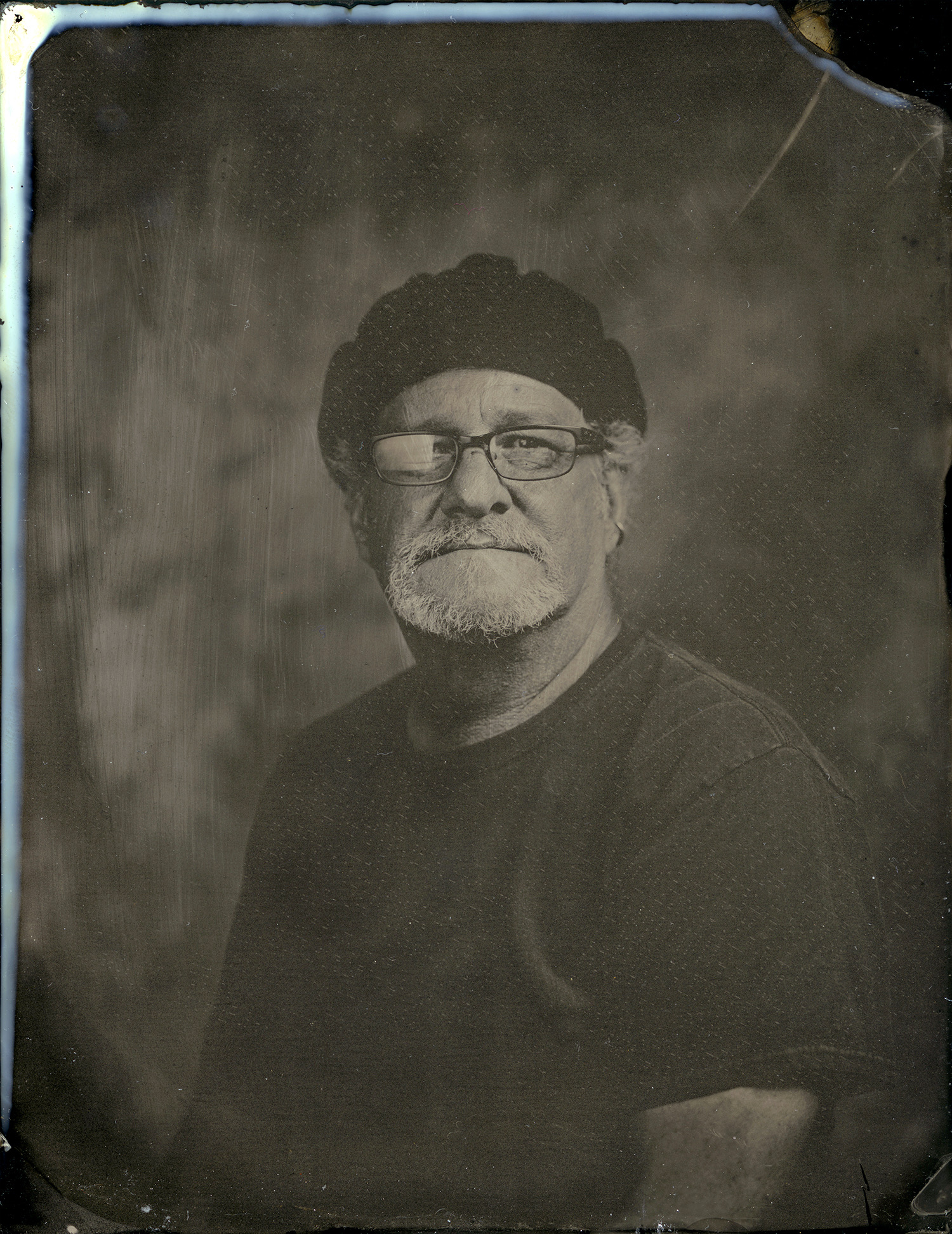 Tintype of Ray Bidegain created by Ashley Jennings.