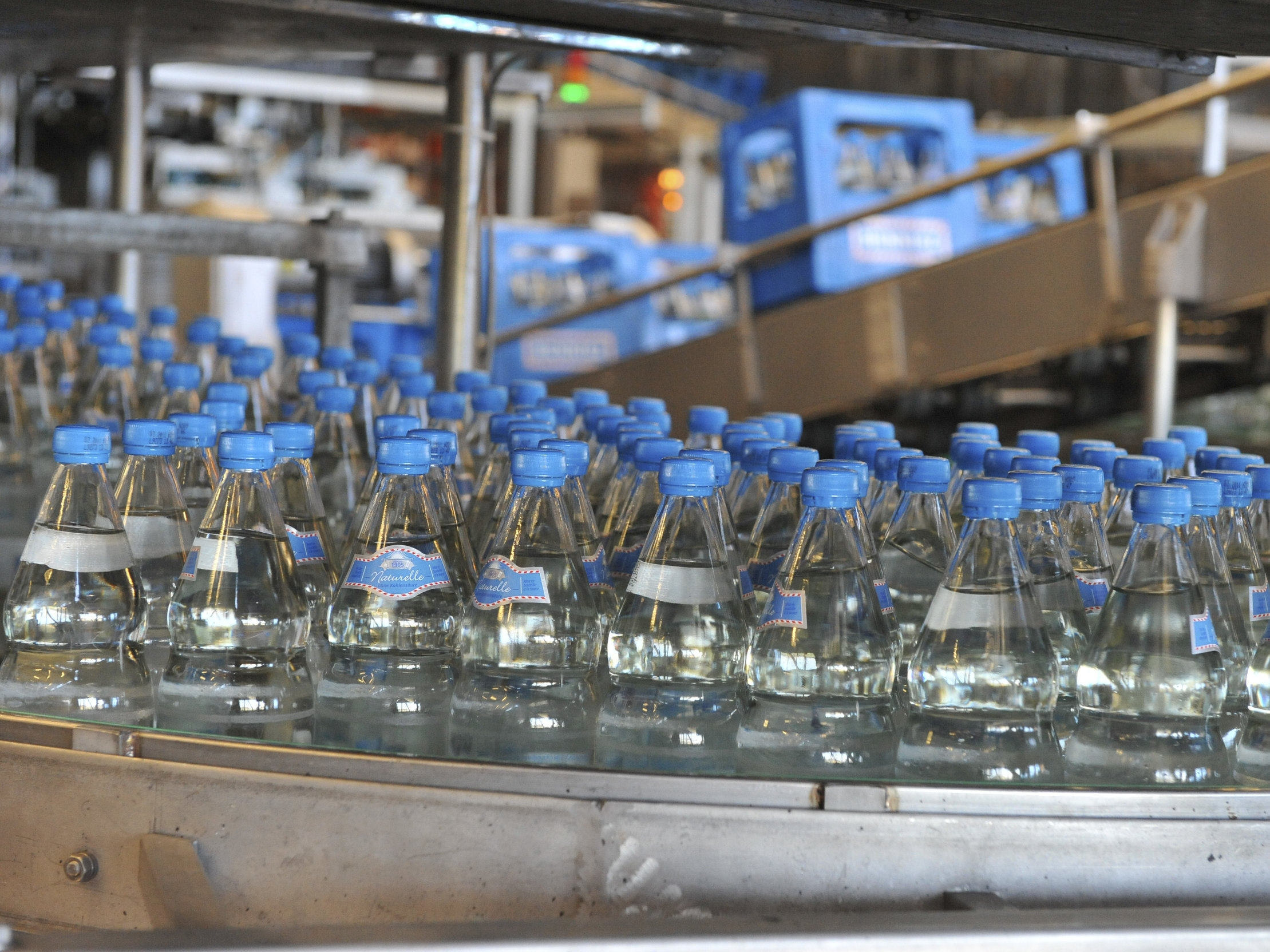 INDUSTRY. - A simple quality control test for the packaged water industry, and other industries where E. coli testing is required.
