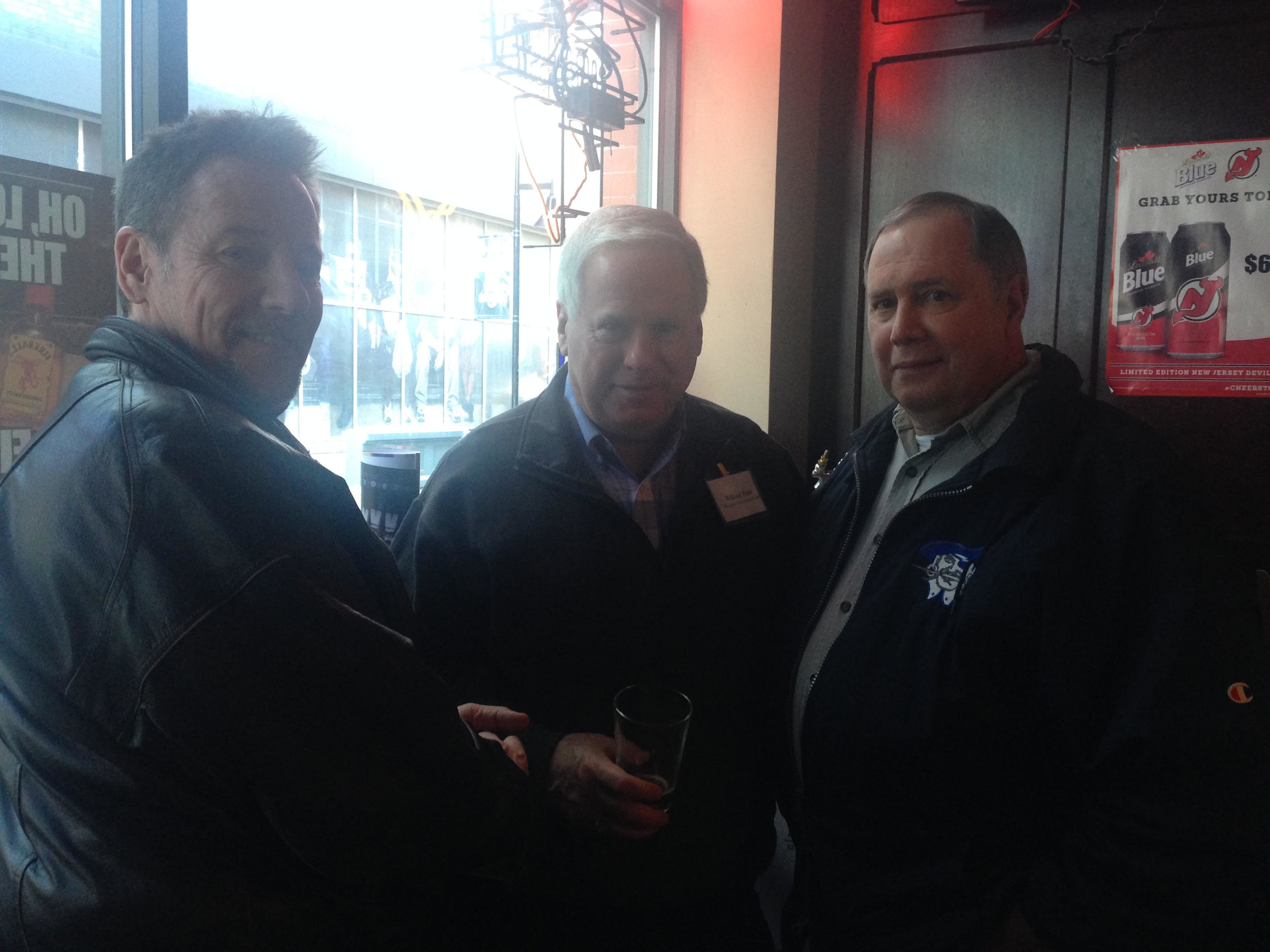 John O'Donnell, Gerry Lenihan and William J after the game