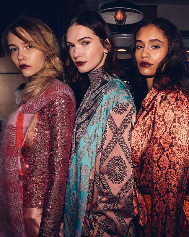 Reposted from @nyfw -  Luscious textures and perfect prints layered to perfection backstage @cinqasept #NYFW February 2019.⠀ 📸 @moeez
