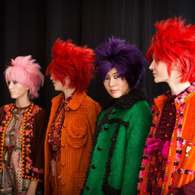 Reposted from @nyfw -  An explosion of color backstage @annasui #NYFW February 2019. 🌈 Photo by @cmcuse