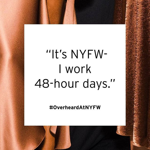 Reposted from @nyfw -  Don't alert missing persons, I'm just at #NYFW. #OverheardAtNYFW
