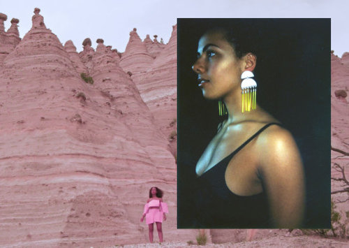 BRWNGRLZ - Laser-printed, hand painted earrings designed to channel all things that make brown girls strong.