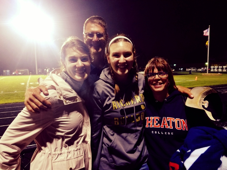 Coach Bolhuis and his ladies, (his son plays at Wheaton College).