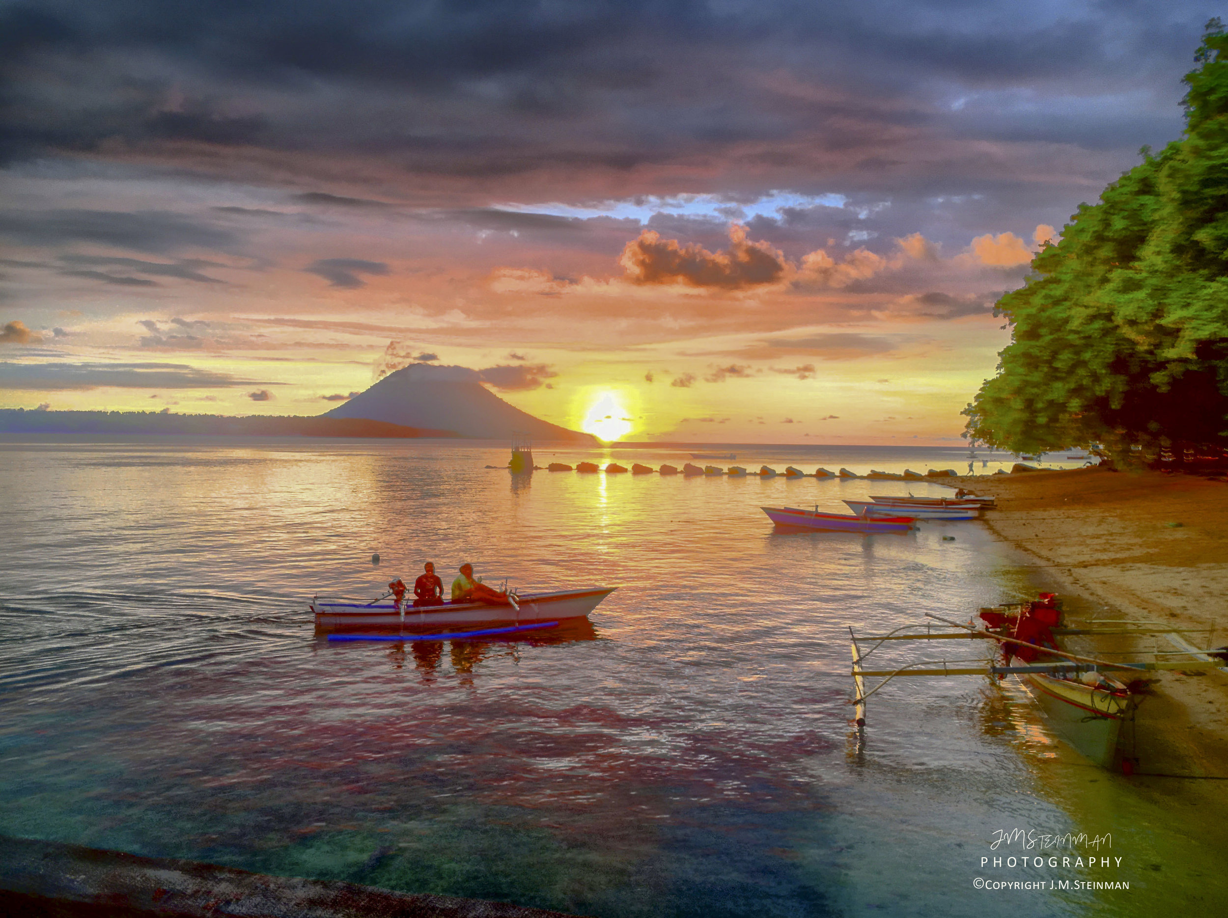 Sunset on Siladen Island, Sulawesi Indonesia