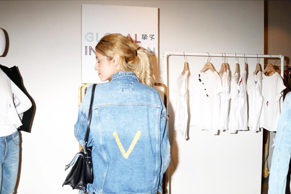 Muse Vanessa Chow in Custom Jacket with her Initial.   Fred Segal Intuition Film Screening /  Photo courtesy of Global Intuition