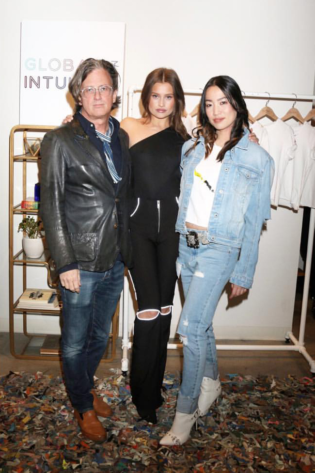 Fred Segal President John Frierson, Brand Spokesmodel Lexi Wood and Global Intuition Founder YiZhou   Fred Segal Intuition Film Screening /  Photo courtesy of Global Intuition