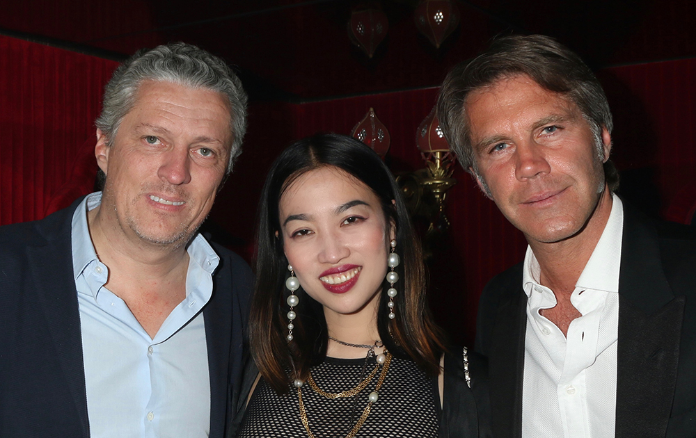 YiZhou, Prince Emanuele Filiberto di Savoia and Pierre Antoine Laduree celebrate Global Intuition x Remy Martin party at Raspoutine in West Hollywood