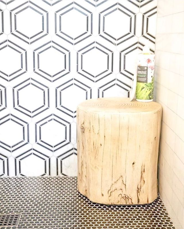 retro rounds and marble hexagon tile anyone?