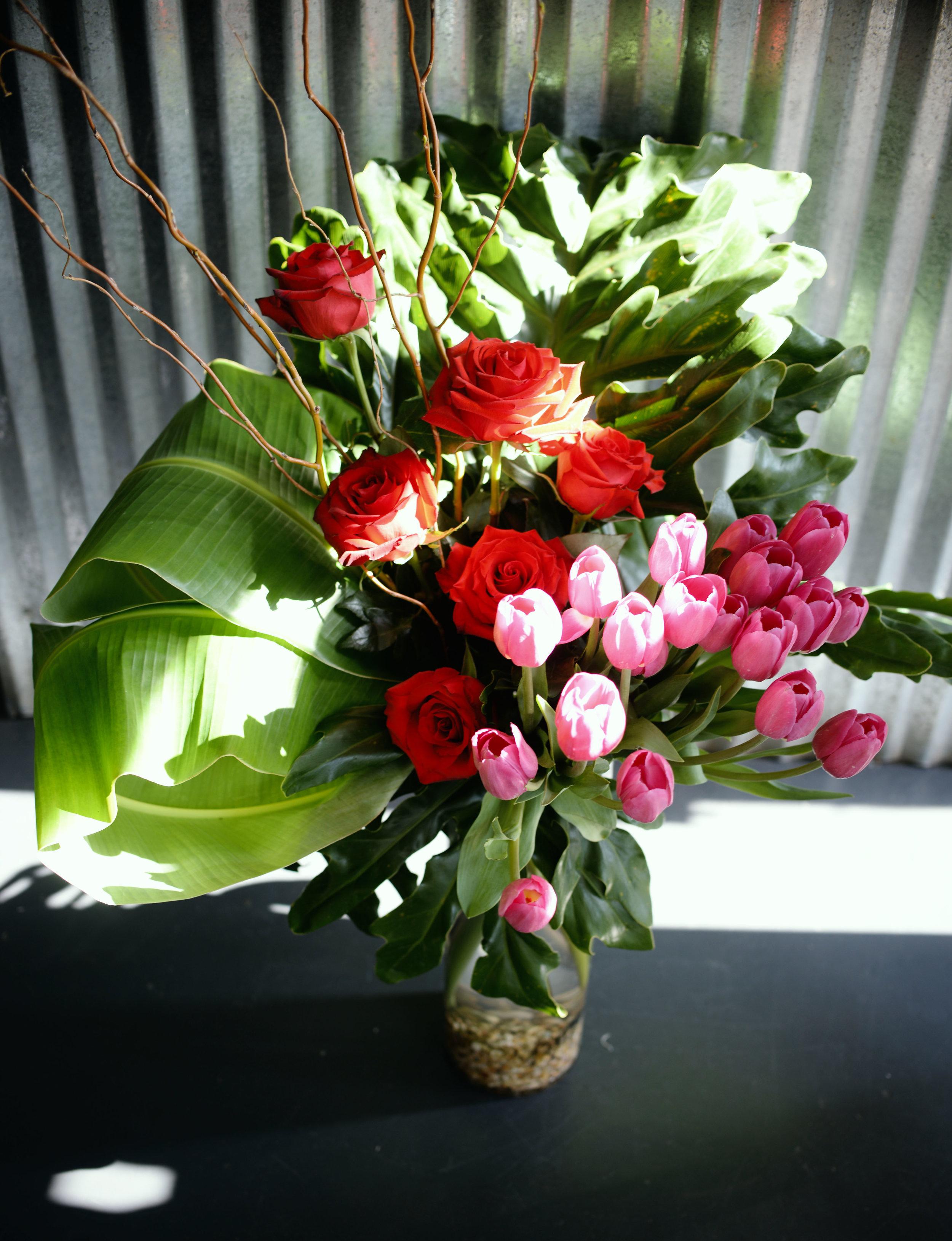 beautiful tropical red rose pink tulip monique.jpg