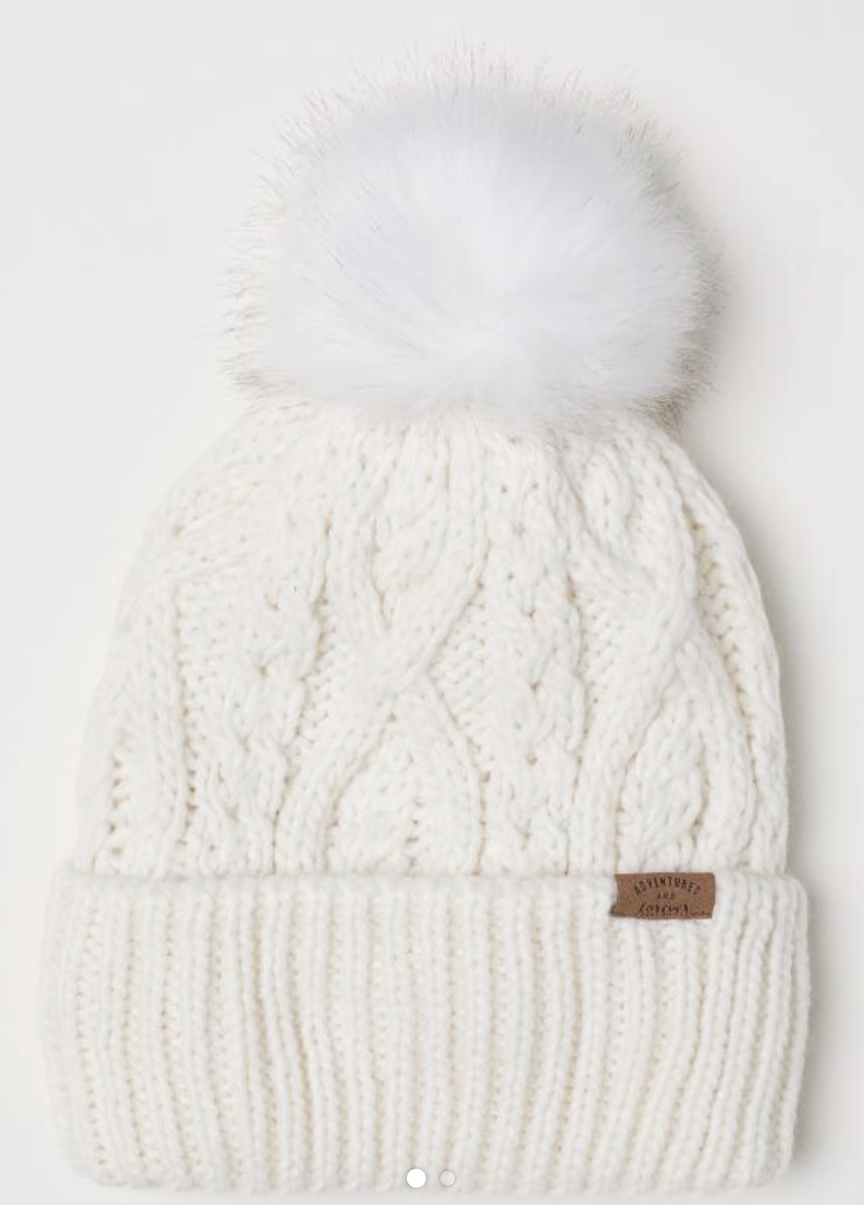 Cable-Knit Snow Hat - @H&M $12.99